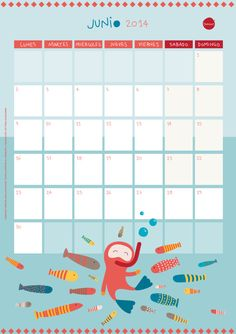 free printable June calendar | by bumood