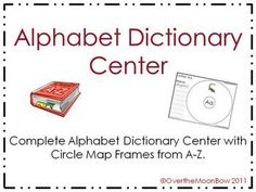 This alphabet dictionary center will help your students practice dictionary skills, beginning sounds   # Pinterest++ for iPad #