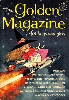 The Golden Magazine Halloween themed cover from October 1964. #vintage #kids #magazines #1960s #Halloween