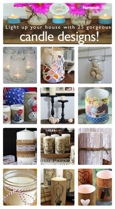 diy candl, decor crafts, candl design, candl idea, country home candle, gorgeous candl