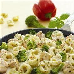 Creamy Basil Chicken Tortellini | Easy Cookbook Recipes