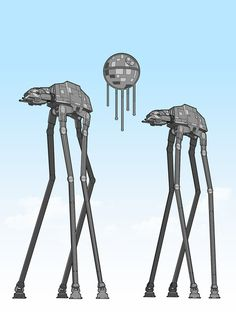 Dali's Mechanical Walkers    Created by GeekChic