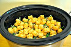 crocki pot, pot recip, pot tater, crock pots, tater tots, dinners, crockpot idea, tot casserol, comfort foods