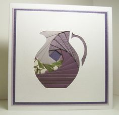 Iris Folded Card - Purple Pitcher