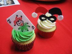 Harley Quinn Cupcake! #batman #adorable #harleyquinn #joker #dessert #geeky
