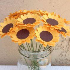Sunflower Paper Flower Arrangement 15 Stems by TheBlessedBloom, $15.00