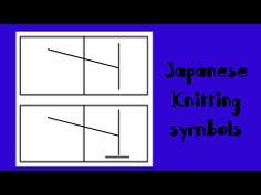 [ Knitting Tutorial ] Japanese Knitting Symbols # 9 - Make 1 sitch (Left slant knit increase)
