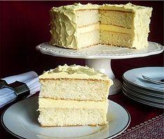White velvet butter cake.