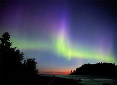 i'll never forget it <3... Northern Lights at  Lake Superior