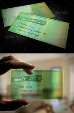 transparent business cards frosted green http://www.bce-online.com/en