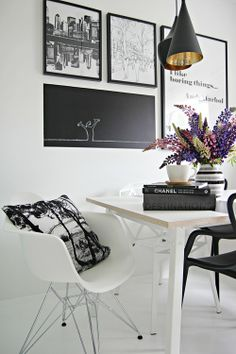 Cozy black and white
