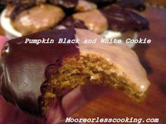 Moore or Less Cooking: PUMPKIN BLACK AND WHITE COOKIE < Sunday's With Joy >