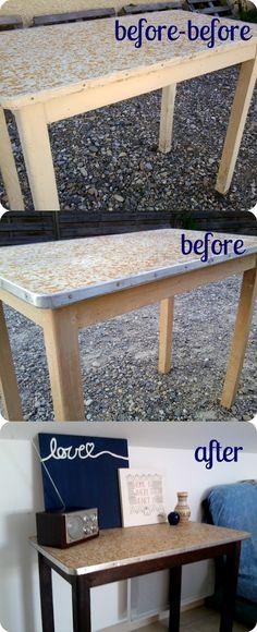 diy transformed table / desk