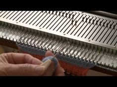 Machine Knit Helix Cable by Diana Sullivan - YouTube