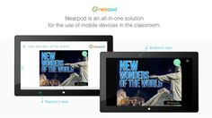 Nearpod // Experience this magical educational app that has been used by more than 1,000,000 students around the world within one year. Nearpod is a must-have application for teachers and schools that have access to Microsoft Surface tablets for their classes. What's Nearpod? The Nearpod platform enables teachers to use their tablets to manage content on students' devices. It combines presentation, collaboration, and real-time assessment tools into one integrated solution.