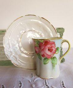 vintage teacup and saucer.
