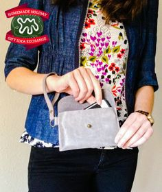 Make this Homemade Holiday Gift: Leather Wristlet — HOMEMADE HOLIDAY GIFT IDEA EXCHANGE: PROJECT #13