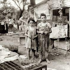 Elm Grove: August 1936. Elm Grove, Oklahoma County, Oklahoma. Medium-format nitrate negative by Dorothea Lange for the Farm Security Administration.