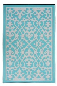 Fab Habitat 4-Feet by 6-Feet Venice Indoor/Outdoor Rug, Cream and Turquoise by Fab Habitat - Fab Rug, http://www.amazon.com/dp/B004HG7JIY/ref=cm_sw_r_pi_dp_9YiGrb1K1PAH3