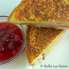 The Monte Cristo Sandwich with Strawberry Habanero Jam @ The Life and Loves of Grumpy's Honeybunch