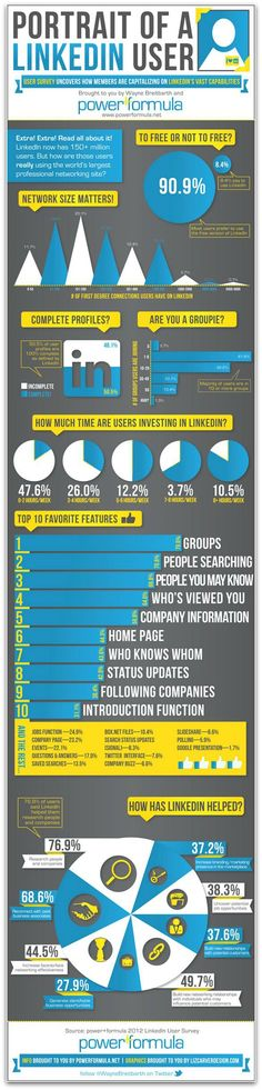 Infographic: Portrait of a LinkedIn user | Articles | Social Media