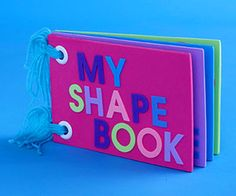 foam project, shape book, craft idea, educational crafts for kids, book pages, craft projects, foam crafts, book crafts, construction paper