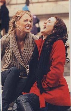 gossipgirl, blair and serena best friends, gossip girl best friends
