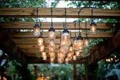 Love these mason jar lights...