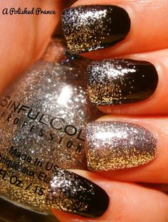 black Nail Art Photos 2014  | See more nail designs at http://www.nailsss.com/french-nails/2/ nailart nail, nails silver and black, nail art black glitter, black nails, black nail art, nail arts, black fingernails, art nails, black and glitter nails