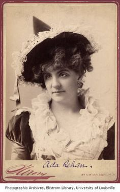 check out the witchy hat on actress Ada Rehan. c1890.  Photo from University of Louisville's Library digital collection at http://digital.library.louisville.edu/cdm/singleitem/collection/macauley/id/329/rec/3#