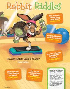 Rabbit Riddles from the April 2014 issue of Ranger Rick magazine rabbit