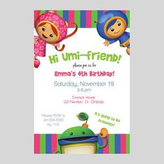 Team Umizoomi birthday party for Chloe
