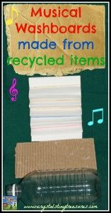 """Make Your Own """"Recycled"""" Musical washboard."""