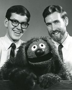Frank Oz and Jim Henson with Rowlf