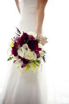 bridal bouquets, white roses, wedding bouquets, spring wedding flowers purple, bride bouquets, color combinations, flower ideas, wedding colors spring purple, purple bouquets