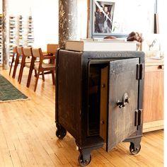 Repurposed vintage safe