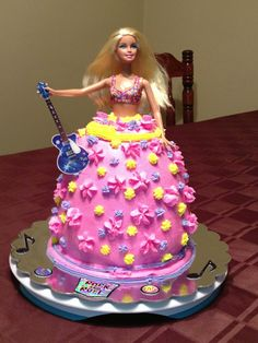 Rock and roll Barbie cake