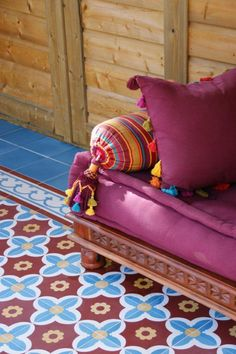 Encaustic tiles in Morocco