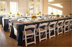 Sunflower wedding reception by Katie Nesbitt Photography