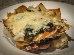 Mushroom Wonton Lasagna