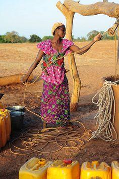 Fetching Water.  Burkina Faso
