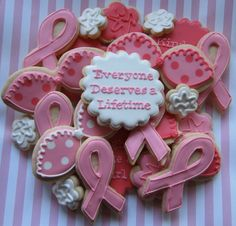 Susan G. Komen 3-Day Walk For the Cure Breast Cancer Awareness Sugar Cookies