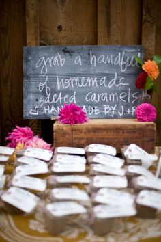 Chalkboard Sign and Cute DIY Favors!