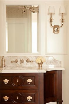 Powder Room Elegant Powder Room #PowderRoom