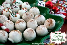 Mommy's Kitchen: Egg Nog & Sugar Cookie Oreo Truffles & {More Candy Tray Ideas}