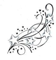 stars swirls tattoo designs