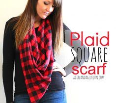 plaid square scarf