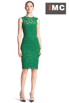 Imixcity Women's Dress Lace Sleeveless Evening Slim Green Size M Imixcity http://www.amazon.com/dp/B00FPHQVCY/ref=cm_sw_r_pi_dp_npscub0YXBAFE