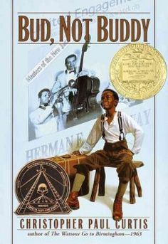 2000 - Bud, Not Buddy by Christopher Paul Curtis - Ten-year-old Bud, a motherless boy living in Flint, Michigan, during the Great Depression, escapes a bad foster home and sets out in search of the man he believes to be his father - the renowned bandleader, H.E. Calloway of Grand Rapids.