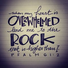Psalm 61:2. Psalm doodle. Exhausted.
